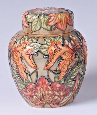 Moorcroft Flame Of The Forest Pattern Ginger Jar with Cover by Philip Gibson