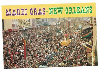 Louisiana Chrome Postcard Mardi Gras Day in New Orleans Aerial View