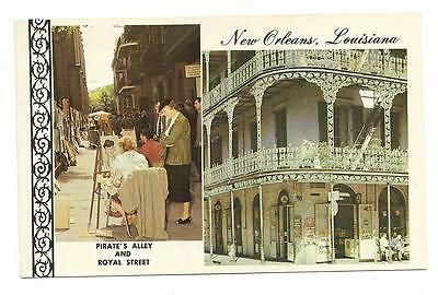 Vintage Louisiana Chrome Postcard New Orleans Picturesque Old Royal Pirate Alley