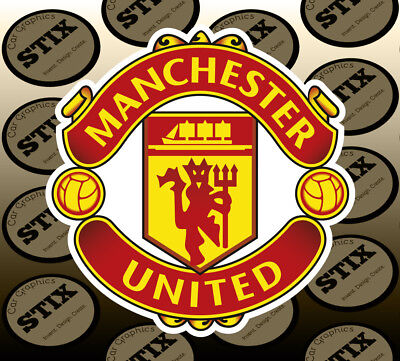 Manchester United Logo Color Die Cut Vinyl Sticker Car Window Hood Bumper Decal
