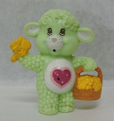 "Vtg 1984 A.g.c. Care Bears Cousin 2 1/4"" Pvc Gentle Heart Lamb Figure"
