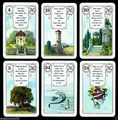 36 Mlle Lenormand Luxus Karten Deck Fortune Telling Cards Goldecken Gold Edges