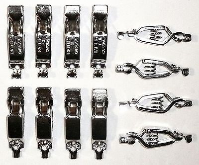 LOT OF 12 BATTERY CHARGING CLIPS 20 Amps Electrical Spring Clamps >NEW<