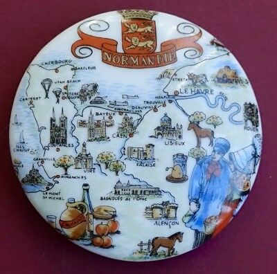 Souvenir Fridge Magnet Normandy Map And All The Cities France