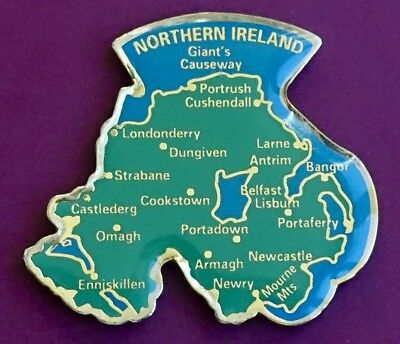 Souvenir Fridge Magnet Northern Ireland Map And All The Cities