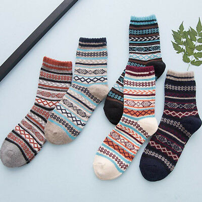 1Pair Men's Warm Winter Thick Wool Rabbit Blend Cashmere Casual Dress Socks