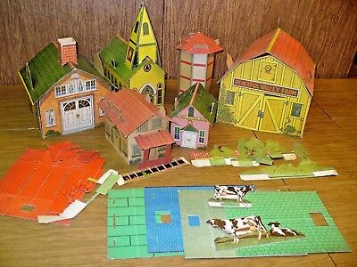 Vintage Lot Paper Buildings, Acces Pan Confection National Candy Co Chicago 1923