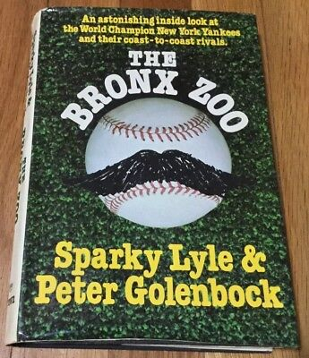 Vintage THE BRONX ZOO by Sparky Lyle & Peter Golenbock 1979 First Edition