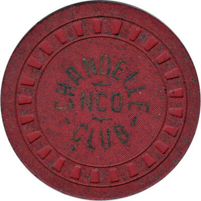 Chandelle NCO Club - $1 Chip (Red Clay)