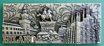 Souvenir Fridge Magnet Milan All The Sights Lombardy Italy