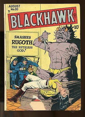 Blackhawk #20 Good 2.0 Classic Bondage Cover 1948 Quality
