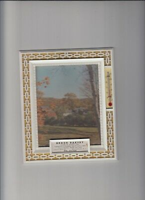 Brook Bakery Bound Brook Nj Landscape Scene Indoor Advertising Wall Thermometer