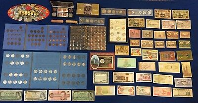 Huge Canada & US & World Coin & Banknote Estate Lot. Incl. Silver! SEE PICS!!