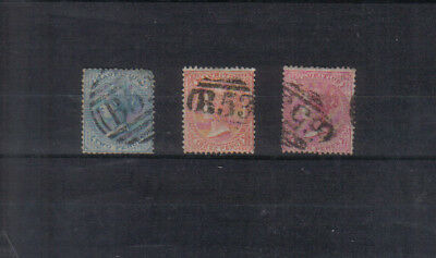 Mauritius Q Victoria 1863-72 2d, 3d and 4d used