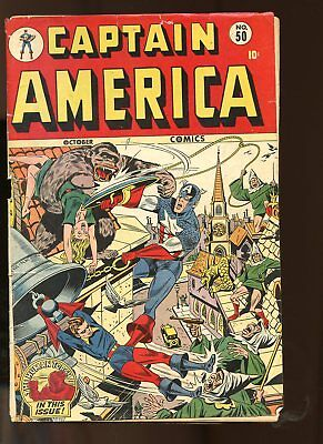 Captain America Comics #50 Fair / Good 1.5 (Fr/gd) 1945 Atlas