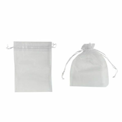 Gift Favor Bags Drawstring Organza Transparent Jewelry Pouches for Candy Cookies