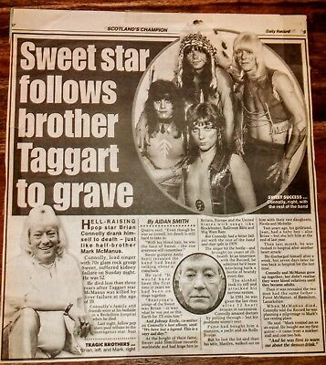 Sweet Brian Connolly Death Obituary Newspaper Articles