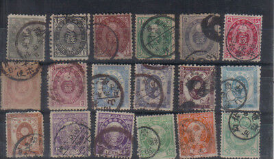 Japan 1876 Used values to 20s