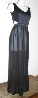 robe t34/36 bas voile transparent haut moulant libertine sheer sexy 277/