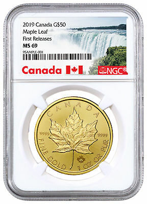 2019 Canada 1 oz Gold Maple Leaf $50 Coin NGC MS69 FR Exclusive Label SKU55918