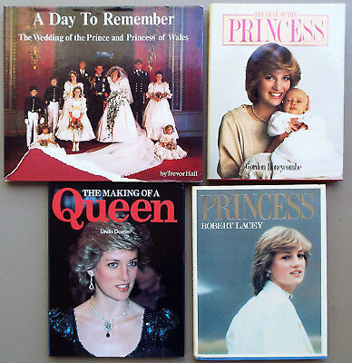 Collection Of 4 Princess Diana Books