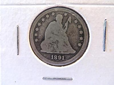 2 US Seated Liberty Quarters 1877S & 1891 No Reserve          23&24