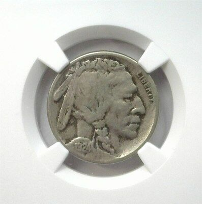 1924-S Buffalo 5 Cents Ngc F12 Looks 20! Lists For $85! Keydate!