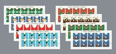 Jersey 2018 CHRISTMAS JUMPERS SHAPED STAMPS !!  SHEETLETS  POSTFRIS/MNH