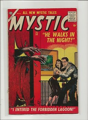 Mystic 53 VG+ 4.5 Atlas First Silver Age Issue Horror 1956