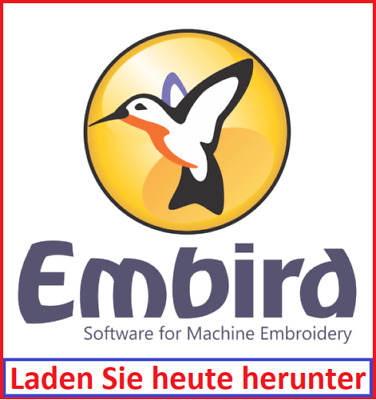 NEU Embird 2015 Stickerei voll Software in deutscher Sprache