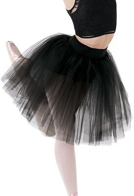 Balera high waisted long tulle tutu skirt new S9136 black XL pink L adult size