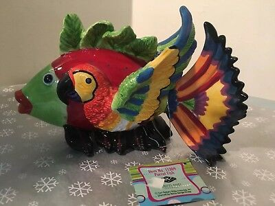 Westland Giftware Fish Outta Water Parrot Fish In Original Box No Chips 11309