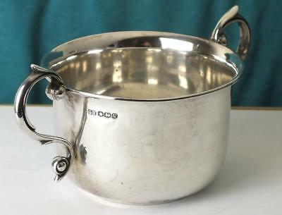 148g Solid Silver Two Handled Bowl / Porringer - Sheffield 1938 - George Howson