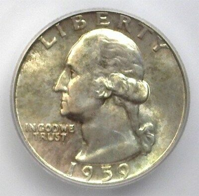 1959-D Washington Silver 25 Cents Icg Ms67 Price Guide Valued At $1150!!