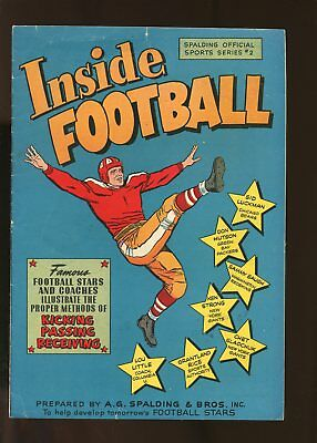 Spalding Official Sports Series #2 Very Good / Fine 5.0 Inside Football 1947