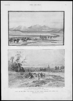 1893 Antique Print - RUSSIA PAMIRS Yarkland River Major Roche's Expedition (193)