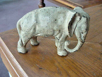 Antique Cast Iron Elephant Still Coin Bank