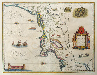 Map Of The New World Amerika Manhattan Nova Belgica Et Anglia Nova Tiere 1640