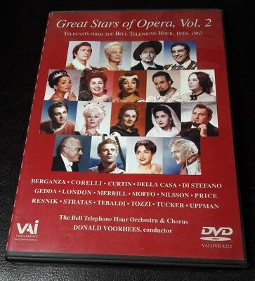 1 DVD Great Stars of the Opera Vol 2 Like New Telecasts Bell Telephone 1959-1967