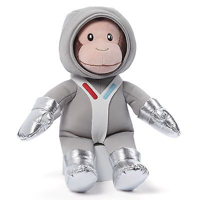 # CURIOUS GEORGE Plush Toy Stuffed Animal GUND Silver Astronaunt MONKEY Outfit