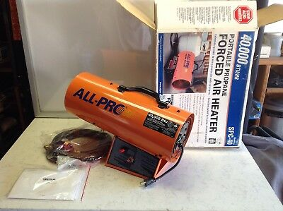 ALL PRO 40,000 BTU Propane Forced Air Heater DARN GOOD CONDITION, FAST SHIPPING