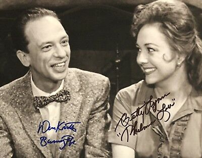 Don Knotts Betty Lynn DUAL AUTHENTIC HAND SIGNED 8x10 Photo Andy Griffith Show