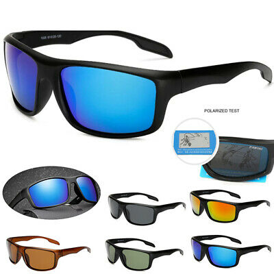 Mens Polarized Sports Sunglasses Driving Glasses Hard Unbreakable Frame Cycling
