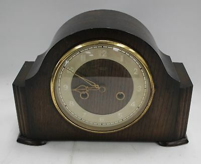 Vintage 1940s SMITH ENFIELD Wooden Mantle Clock - W77