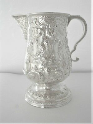 Antique (1800's) Samuel Kirk Repousse Coin Silver 11 Oz. Creamer, 250 Grams
