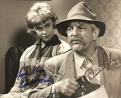 Denver Pyle Maggie Peterson DUAL AUTHENTIC SIGNED 8x10 Photo Andy Griffith Show