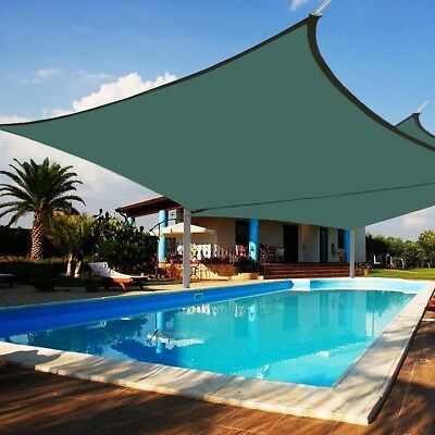 2x Deluxe Square Sun Shade Sail UV Top Cover Outdoor Canopy Patio Lawn 18' x18'