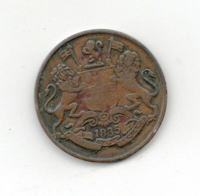 East India Company 1835 1/4 Anna -Lot Y