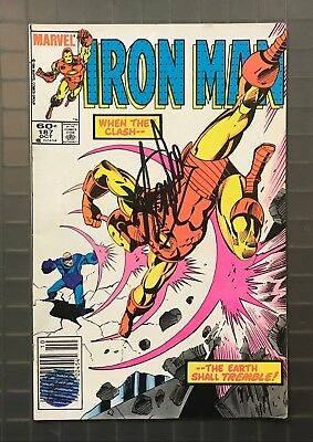 Stan Lee Signed IRON MAN #187 Marvel Comics AUTO 1984 w/ EXCELSIOR Hologram