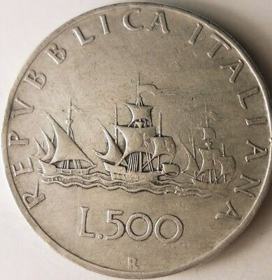 1959 ITALY 500 LIRE - Uncommon Vintage Silver Coin - Lot #N14